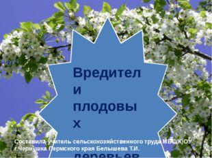 Вредители плодовых деревьев Составила учитель сельскохозяйственного труда МБС