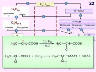 CnH2n+2 CnH2n-6 Арены, бензол 1 2 4 5 3 6 7 8 9 10 11 α * CnH2n Циклоалканы