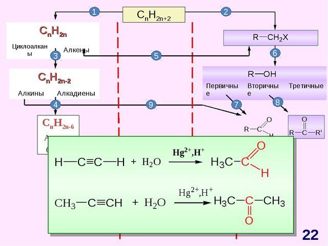 CnH2n+2 CnH2n-6 Арены, бензол 1 2 3 4 5 6 7 8 9 * CnH2n ЦиклоалканыАлкены C...