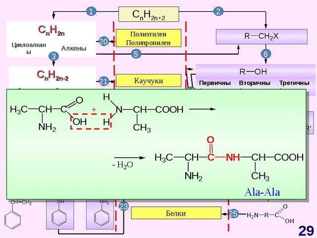 CnH2n+2 CnH2n-6 Арены, бензол Полиэтилен Полипропилен Каучуки Жиры Синтетичес...