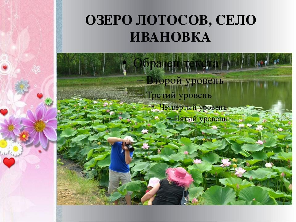 ОЗЕРО ЛОТОСОВ, СЕЛО ИВАНОВКА