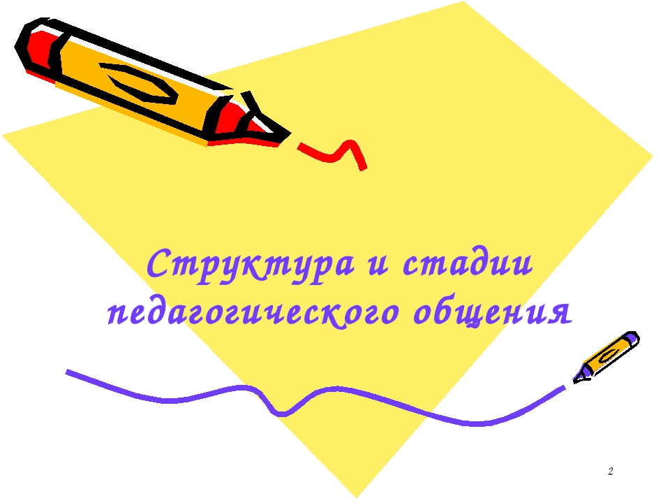 * Структура и стадии педагогического общения