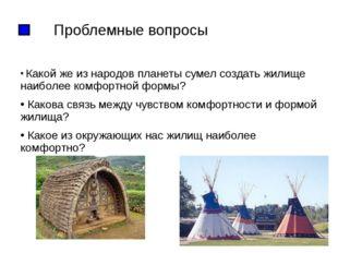 Проблемные вопросы Какой же из народов планеты сумел создать жилище наиболее