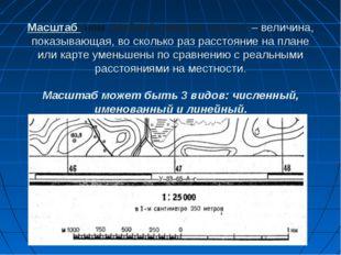 Масштаб (нем. Maßstab «мерная палка») – величина, показывающая, во сколько ра