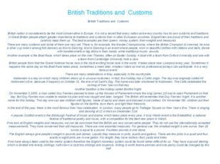 British Traditions and Customs British Traditions and Customs     British nat