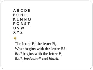 A B C D E F G H I J K L M N O P Q R S T U V W X Y Z The letter B, the letter