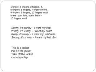 1 finger, 2 fingers, 3 fingers, 4, 5 fingers, 6 fingers, 7 fingers more, 8 fi