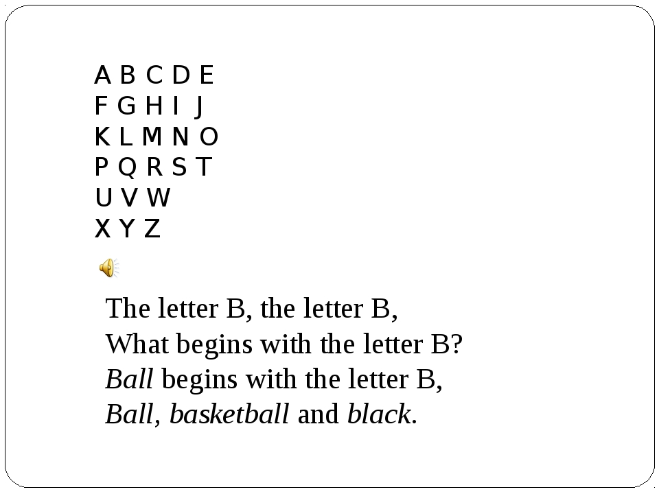 A B C D E F G H I J K L M N O P Q R S T U V W X Y Z The letter B, the letter...