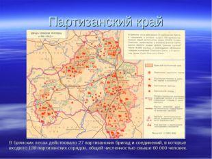 Партизанский край В Брянских лесах действовало 27 партизанских бригад и соеди