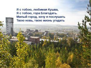 Я с тобою, любимая Кушва, Я с тобою, гора Благодать. Милый город, хочу я пос