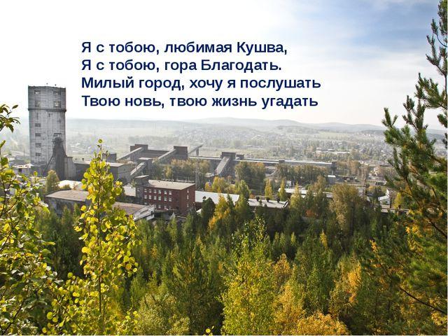 Я с тобою, любимая Кушва, Я с тобою, гора Благодать. Милый город, хочу я пос...