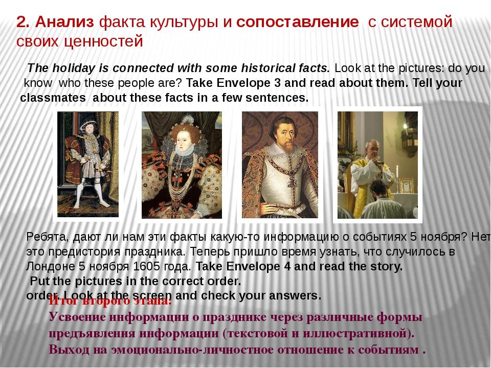 2. Анализ факта культуры и сопоставление с системой своих ценностей The holi...