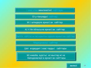 * Қазақстан мемлекетінің сайттары Мұғалімдерге арналған сайттар Оқу-танымдық