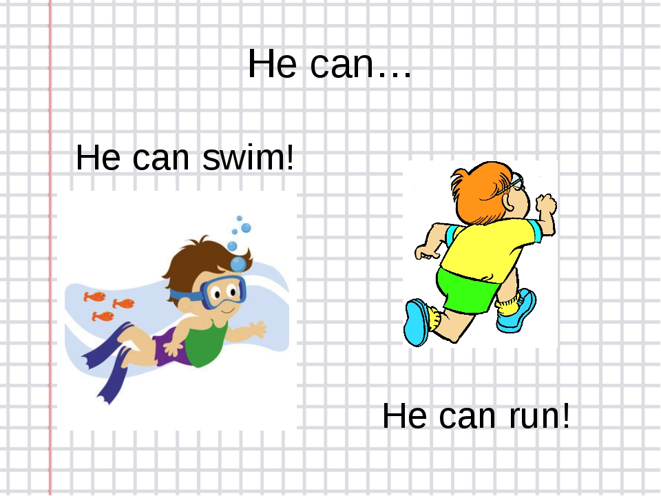 He can… He can swim! He can run!