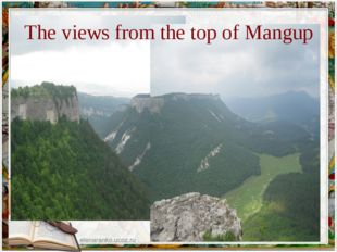 The views from the top of Mangup