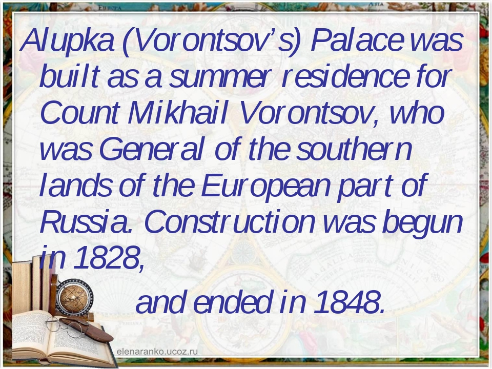 Alupka (Vorontsov's) Palace was built as a summer residence for Count Mikhail...