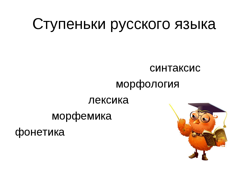 Ступеньки русского языка синтаксис морфология лексика морфемика фонетика