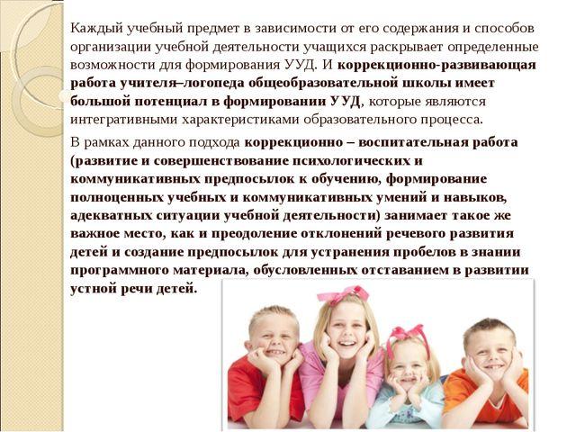 Каждый учебный предмет в зависимости от его содержания и способов организаци...