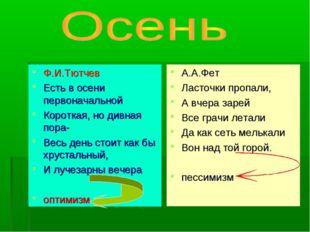 Ф.И.Тютчев Есть в осени первоначальной Короткая, но дивная пора- Весь день ст