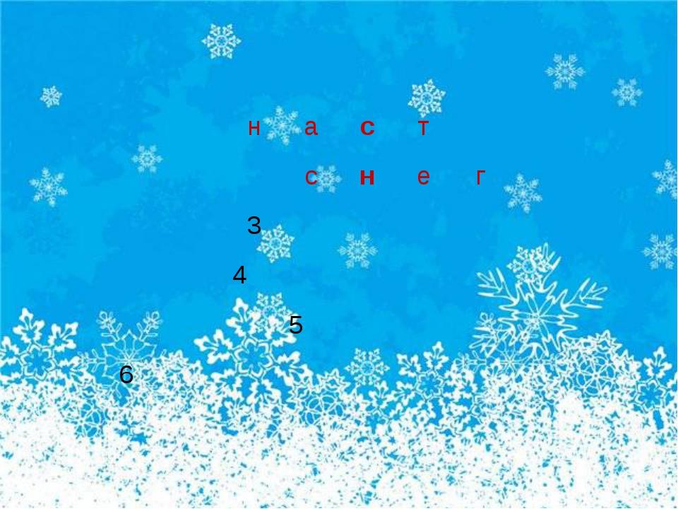 наст снег 3 4 5 6