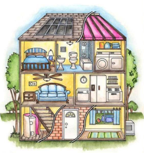 Рисунок описание моего дома