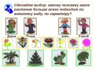 Сделайте выбор: какому человеку какое растение больше всего подходит по внеш