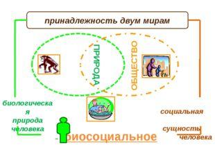 ПРИРОДА ЧЕЛОВЕК принадлежность двум мирам биологическая природа человека соц