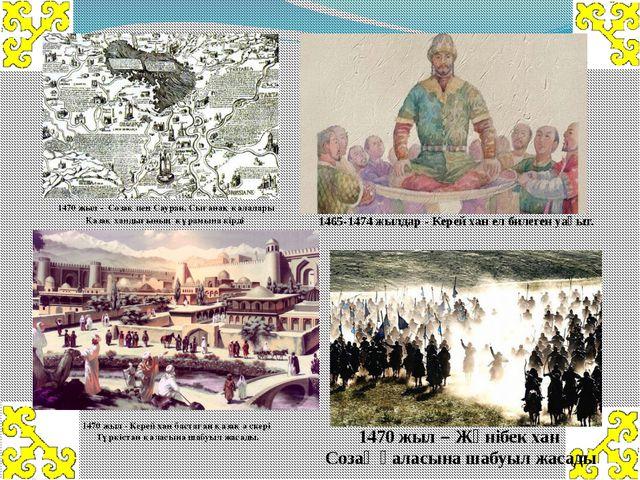 1470 жыл- Созақ пен Сауран, Сығанақ қалалары Қазақ хандығының құрамына кір...
