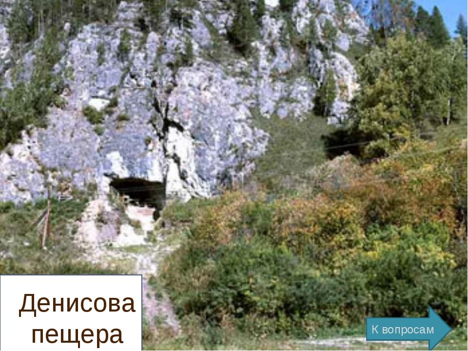 Денисова пещера К вопросам
