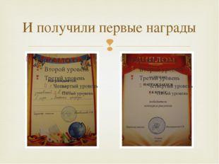 И получили первые награды 