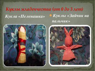 Кукла «Пеленашка» Куклы «Зайчик на пальчик»