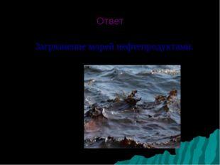 Ответ Загрязнение морей нефтепродуктами.