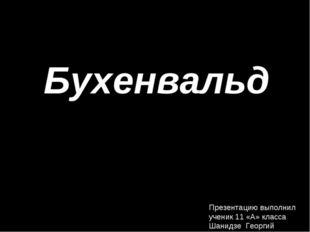 Бухенвальд Презентацию выполнил ученик 11 «А» класса Шанидзе Георгий
