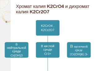 Хромат калия K2CrO4 и дихромат калия K2Cr2O7