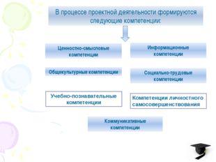 В процессе проектной деятельности формируются следующие компетенции: Ценност