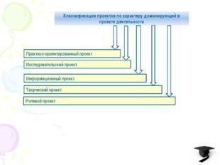 Классификация проектов по характеру доминирующей в проекте деятельности Практ