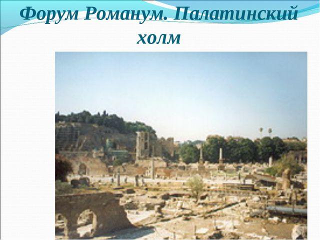 Форум Романум. Палатинский холм