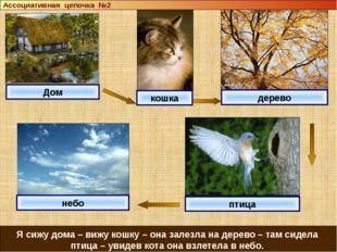 Дом кошка дерево небо Я сижу дома – вижу кошку – она залезла на дерево – там