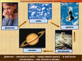 Девочка небо ракета космос космонавт Девочка – смотрела в небо – представила