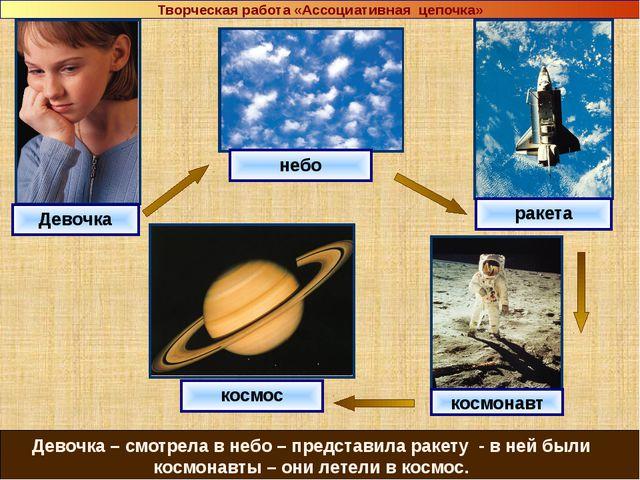 Девочка небо ракета космос космонавт Девочка – смотрела в небо – представила...