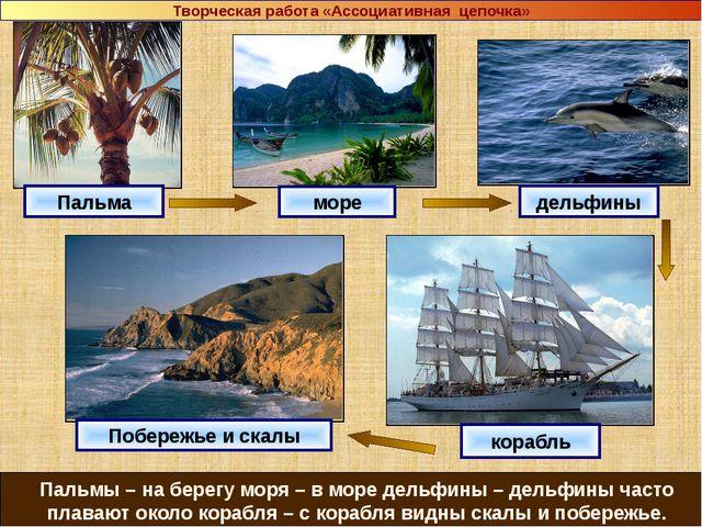 Пальма море дельфины корабль Побережье и скалы Пальмы – на берегу моря – в м...