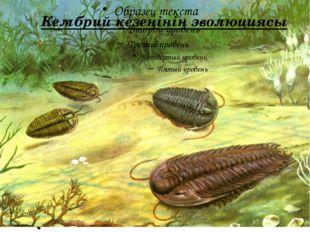Кембрий кезеңінің эволюциясы