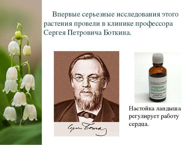 Впервые серьезные исследования этого растения провели в клинике профессора С...