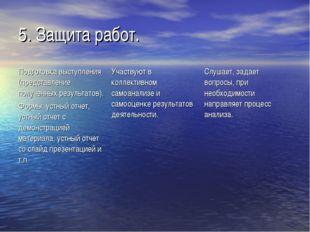 5. Защита работ.
