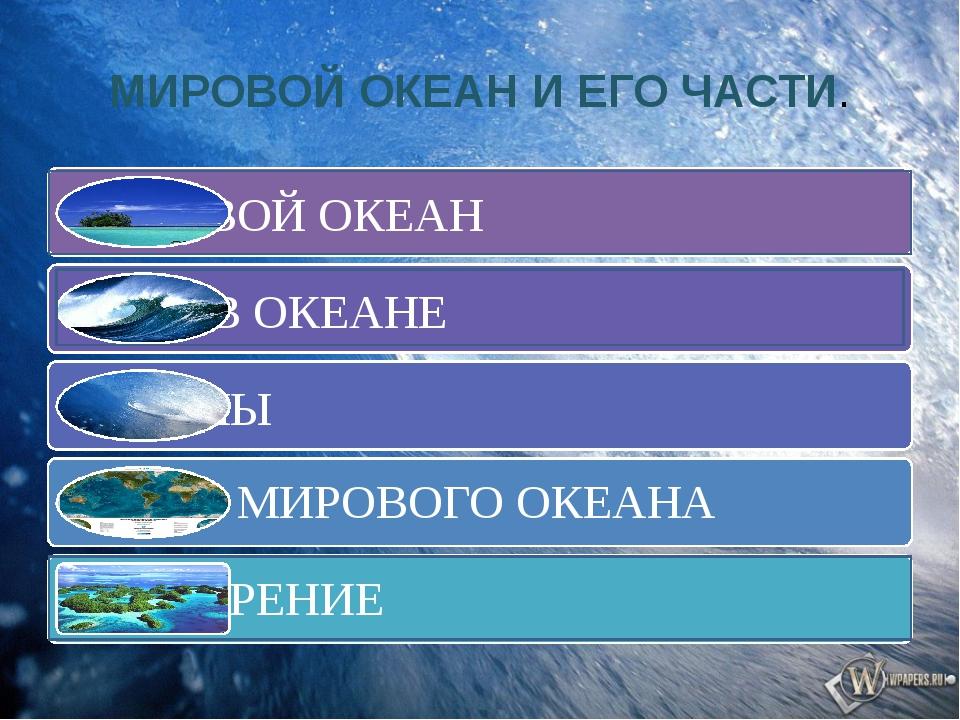 Соотношение суши и океана