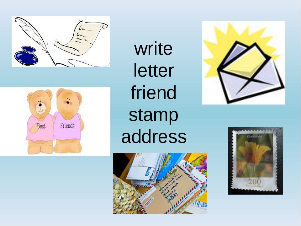 write letter friend stamp address
