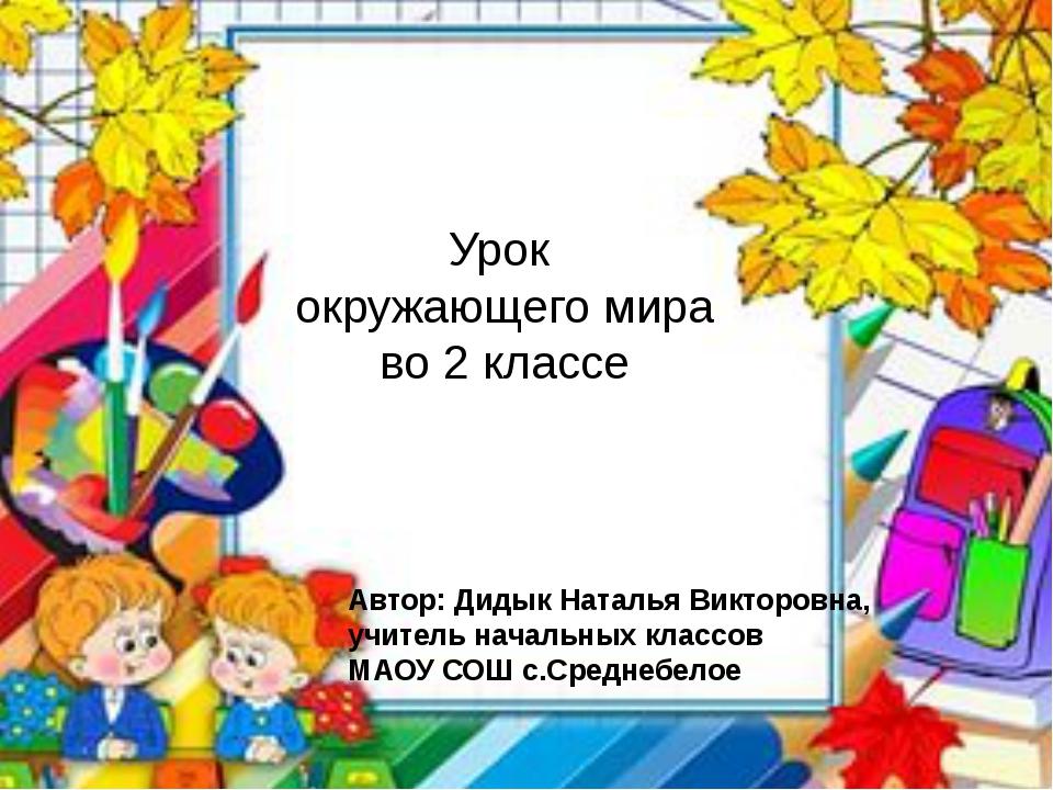 Урок окружающего мира во 2 классе Автор: Дидык Наталья Викторовна, учитель на...