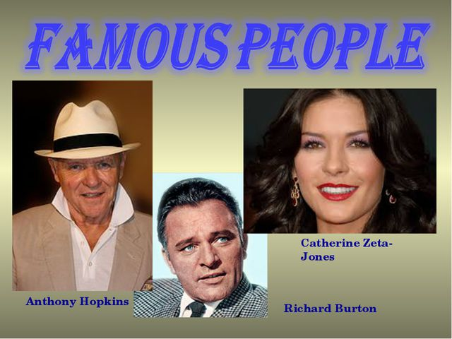 Catherine Zeta-Jones Anthony Hopkins Richard Burton