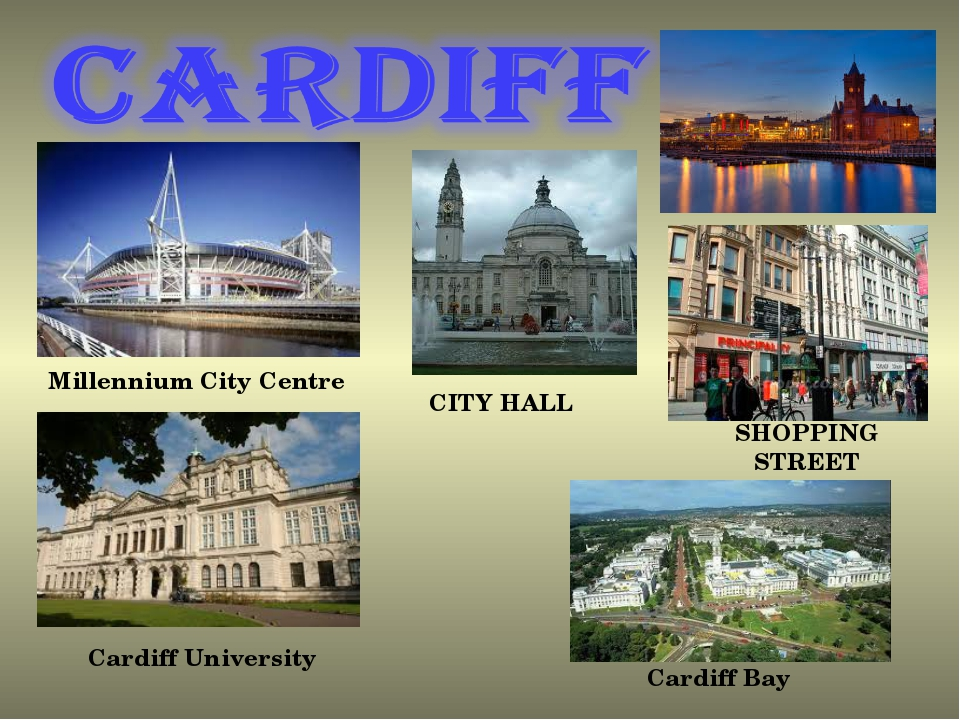 CITY HALL SHOPPING STREET Millennium City Centre Cardiff University Cardiff Bay