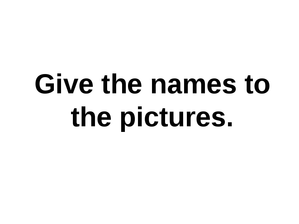 Give the names to the pictures.